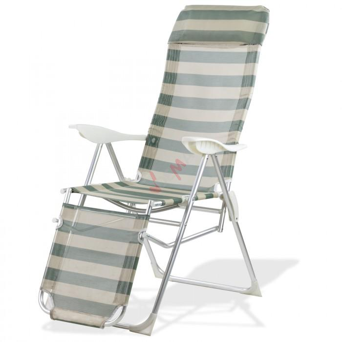 Chaise longue pliante sunnyvale ray p trole cr me for Chaise longue pliante camping