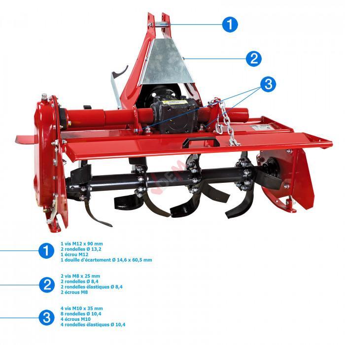 Fraise rotative arrière 95 - Pour tracteurs 20 - 30 CV