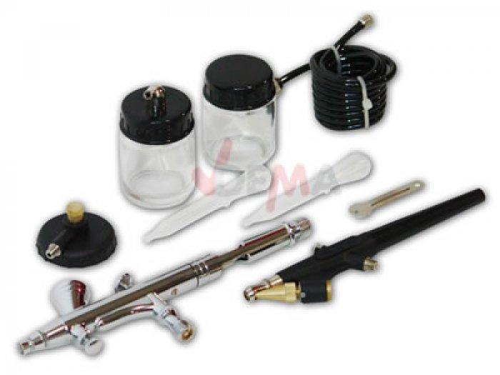 Kit AIRBRUSH 7 pièces avec compresseur - pistolet qualité supérieure