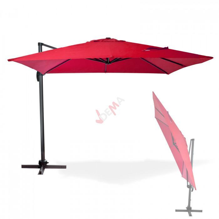Parasol déporté Verona - 3 x 3 m - Rouge bordeaux