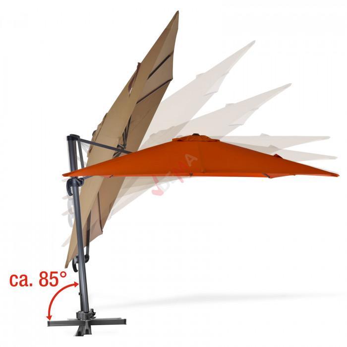 Parasol déporté Verona - 3 x 3 m - Kaki