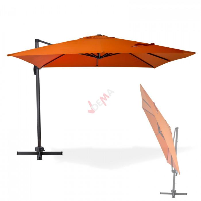 Parasol déporté Verona - 3 x 3 m - Terracotta