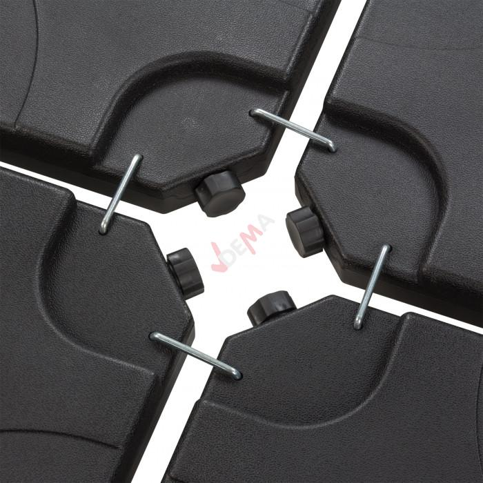 Dalles à lester pour pied de parasol déporté - 4 dalles