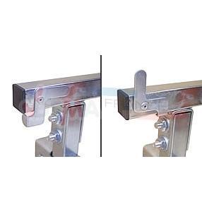 Trétaux métallique noir à rouleau réglable jusqu'à 1300 mm lot de 2