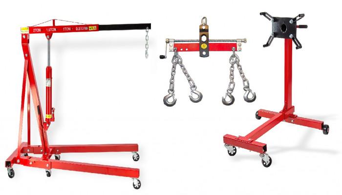 Pack - Grue atelier 2 T + Balancier 750 kg + Support moteur 450 kg
