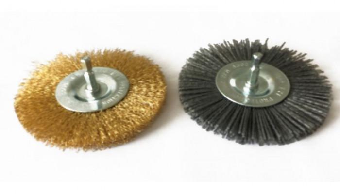 Brosse métallique + brosse nylon pour nettoyeur de joints G94317