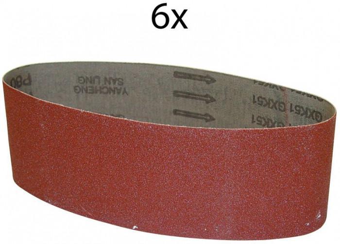 Bandes abrasives 76 x 533 mm G60 - lot de 6 pour ponceuse G58146
