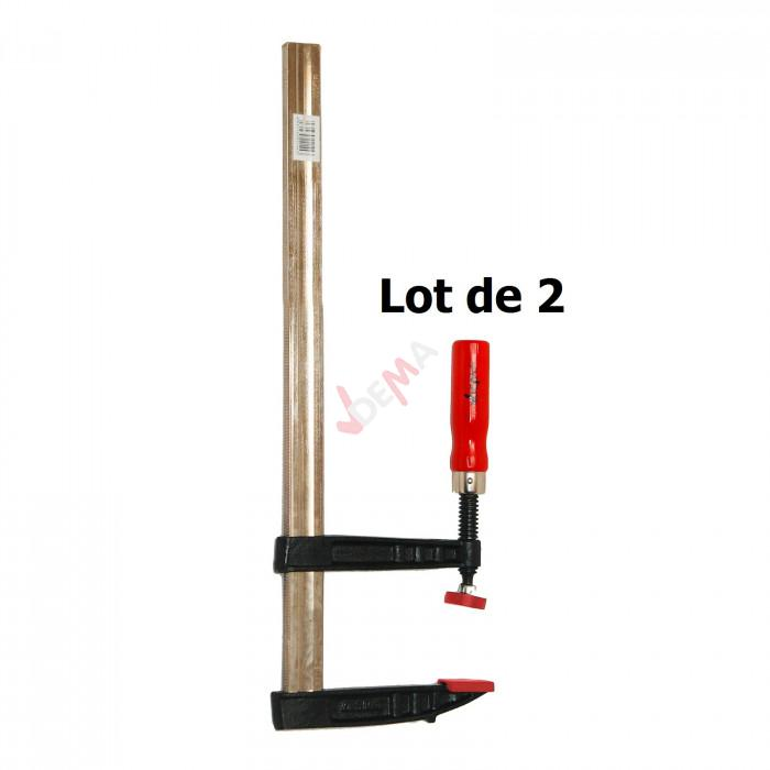 Pack - Serre-joints 140 x 500 mm - lot de 2