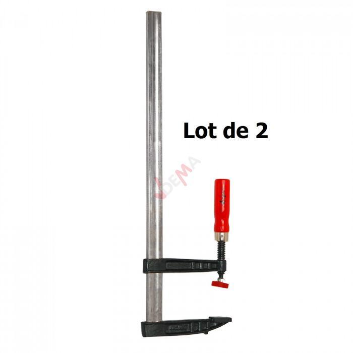 Pack - Serre-joints 140 x 600 mm - lot de 2