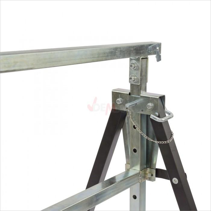 Tréteaux métalliques noir 1300 mm charge 150 kg lot de 2