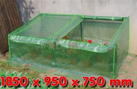 Serre de jardin tissu polyéthylène 1850 x 950 x 750 mm