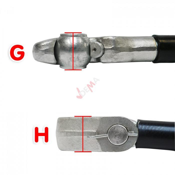 Tirant de 3 points accroche rapide - galvanisé - 520 mm