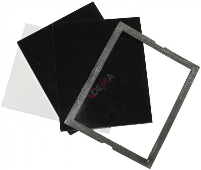 Verre protecteur pour bouclier de soudure 90 x 110 mm - 4 pièces