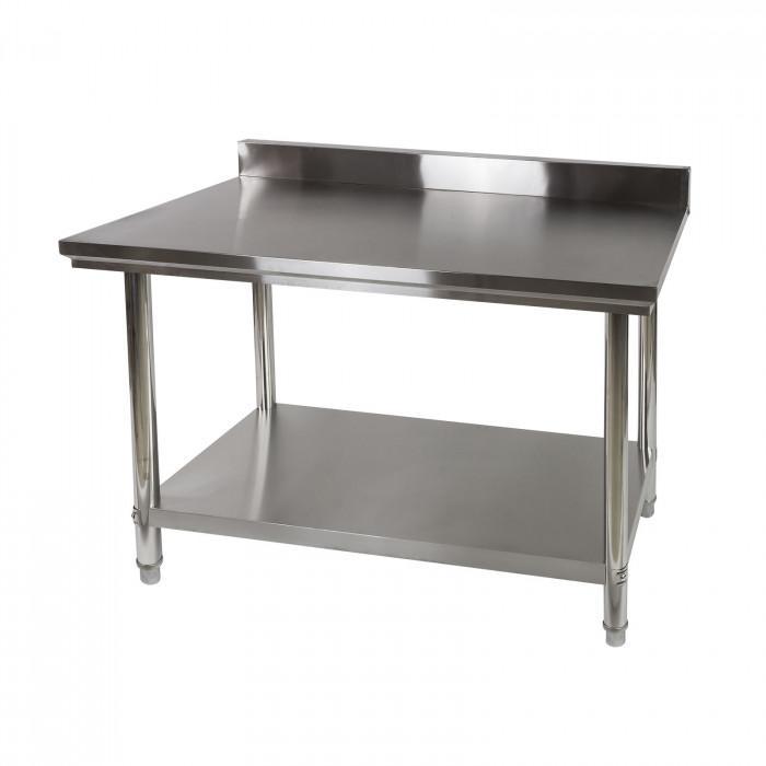 Table de travail inox avec dosseret 120 x 60 cm - DAT 120