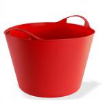 Panier flexible multifonction 42 litres Rouge / Jardin - linge - bois