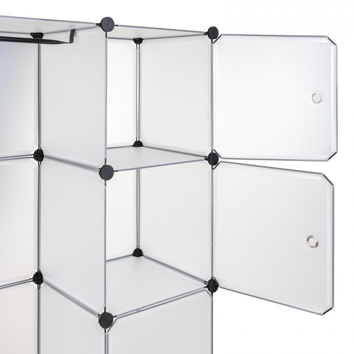 Etagère Rayonnage 12 casiers - Blanc