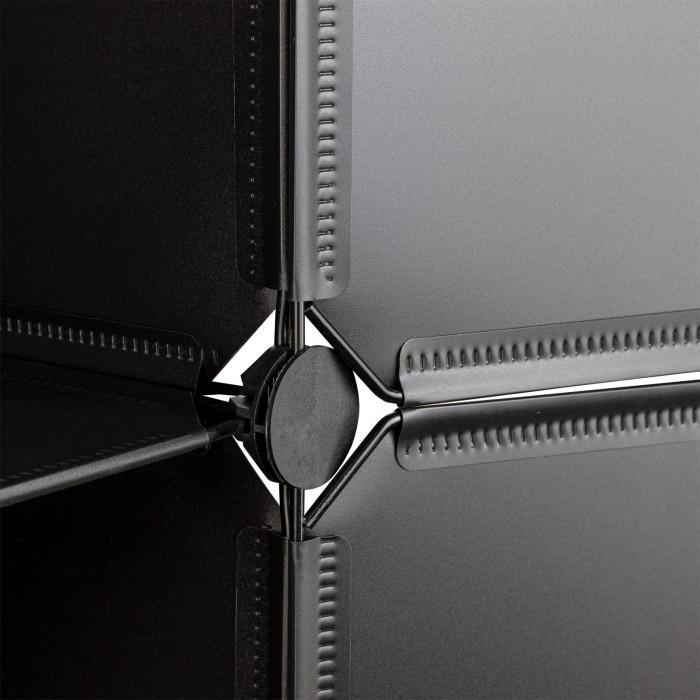 Etagère Rayonnage 12 casiers - Noir