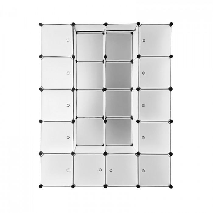 Etagère Rayonnage 20 casiers - Blanc