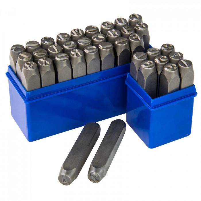 Chiffres et lettres à frapper 10 mm 36 pièces