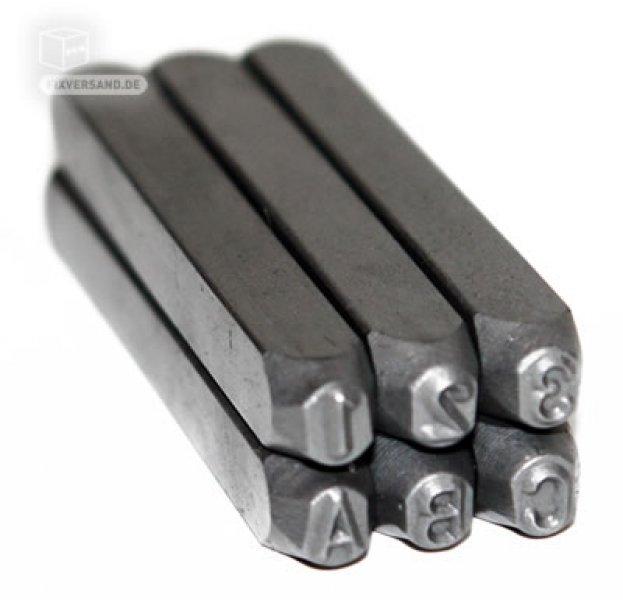 Chiffres et lettres à frapper 4 mm 36 pièces