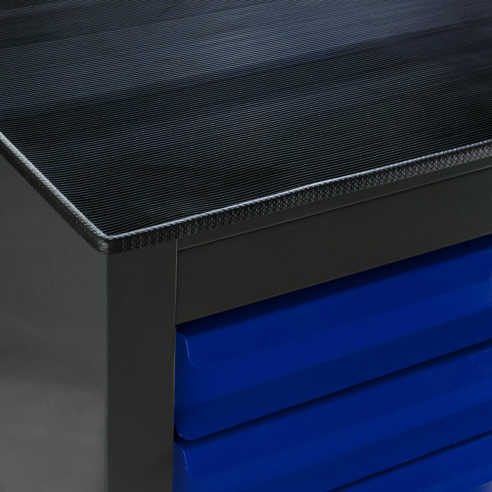 "Armoire servante ""Fernando"" 10 tiroirs - Bleu"