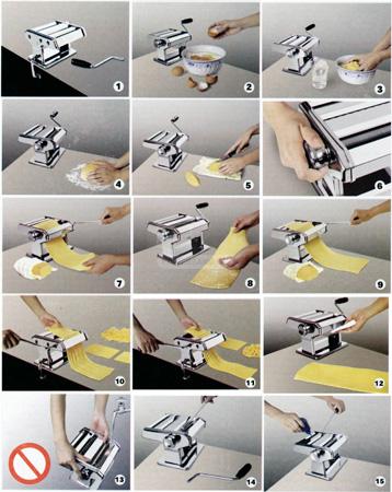 Machine à pates professionnelle 3 en 1 + accessoires
