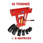 Cintreuse-Presse à cintrer hydraulique - 16 T - 8 Matrices