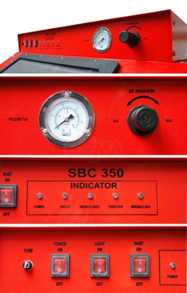 Cabine de sablage 350 L buse fixe ou mobile - Aspiration intégrée
