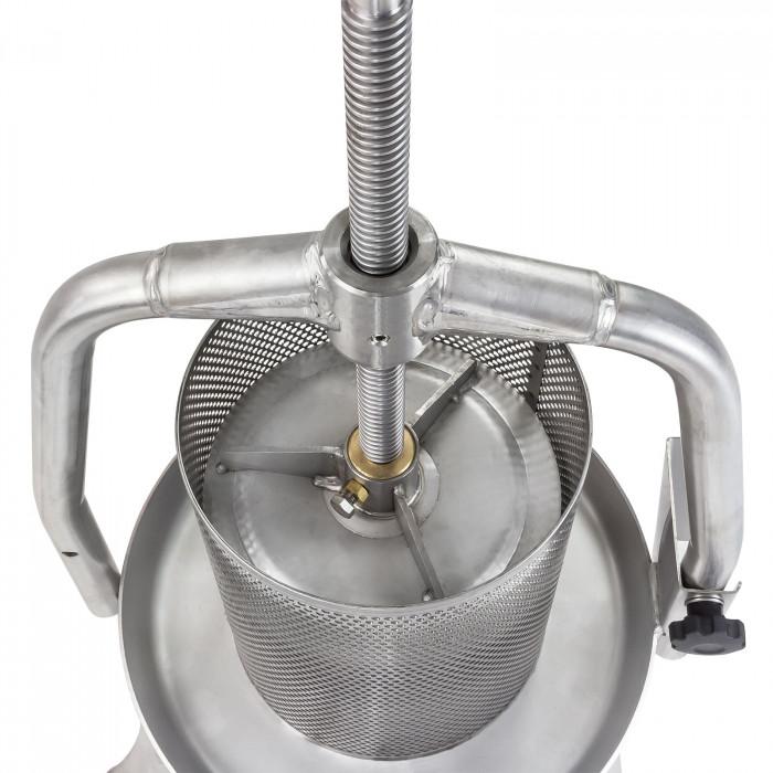 Pressoir à fruits - presse à fruits V20 - entièrement en inox - 10 l