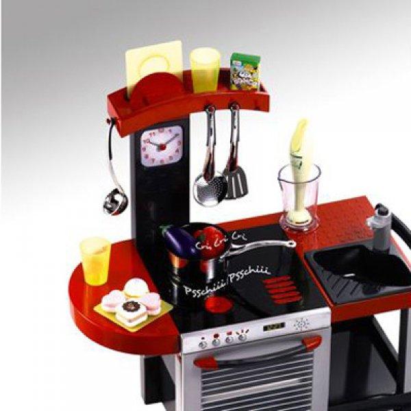 cuisine cheftronic avec 19 accessoires smoby tout ge fille. Black Bedroom Furniture Sets. Home Design Ideas