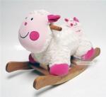 Cheval à bascule Mouton avec son doudou - Hauteur selle 310 mm