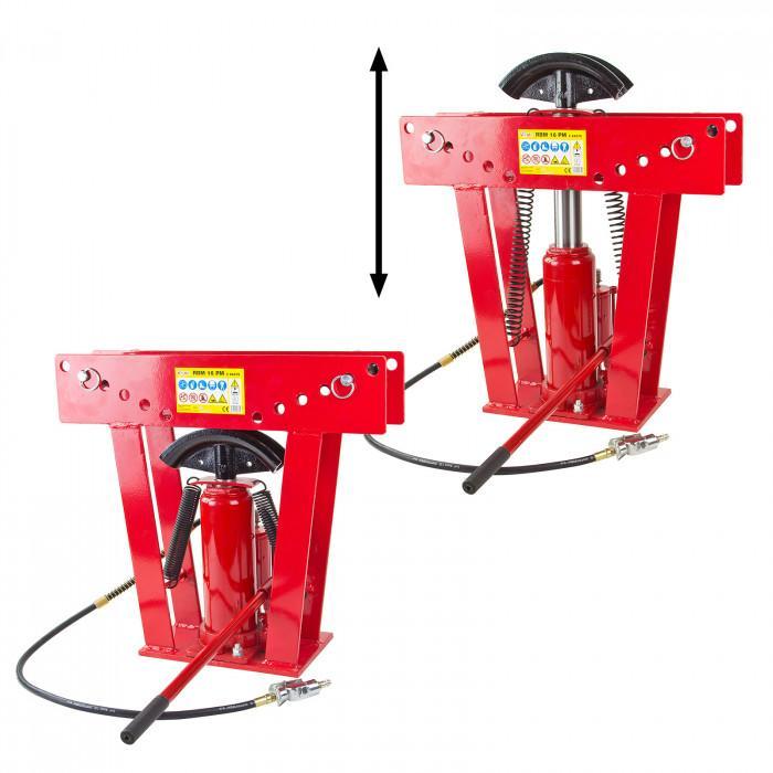 Cintreuse-Presse à cintrer pneumatique 16 Tonnes - 8 matrices