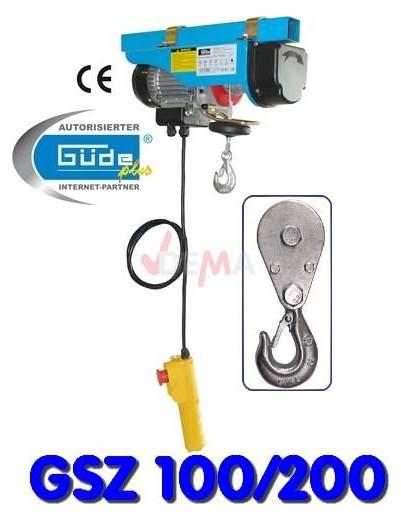 Palan électrique treuil 100/200 kg câble Ø 3,0 mm