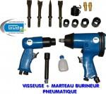 Visseuse à choc pneumatique marteau-burineur + access garantie 2 ans