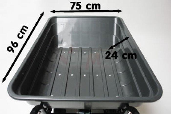 Remorque benne basculante  - 120 litres