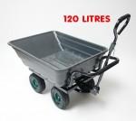 Remorque benne basculante  - Chariot de jardin 120 litres