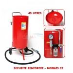 Sableuse mobile 45 litres avec accessoires - Sécurité renforcée