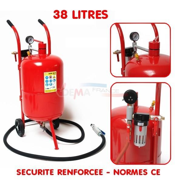 Sableuse mobile 38 litres avec accessoires - Sécurité renforcée