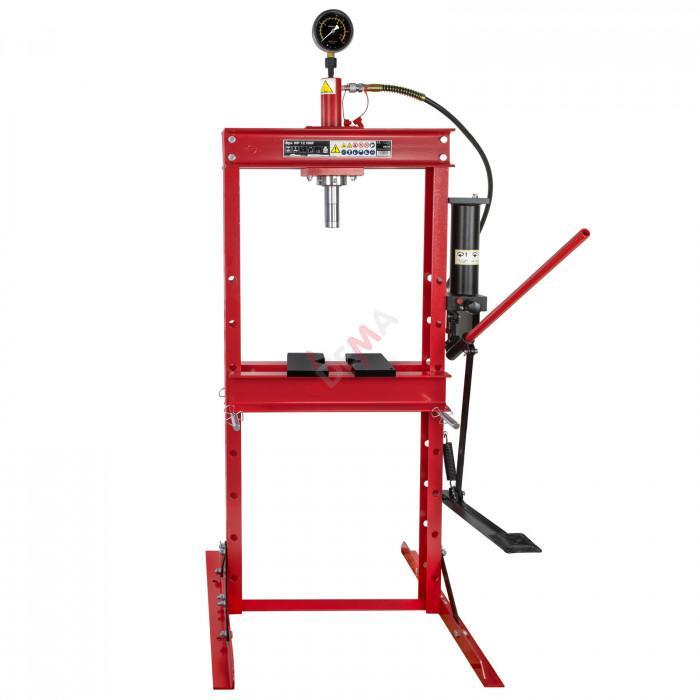 Presse d'atelier hydraulique 12 T avec mano WP12 HMF