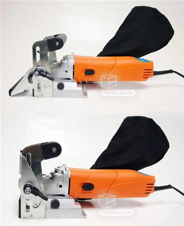 Fraiseuse à bois à lamelles coupe de 0 à 20 angle arrête 0-60 mm bois