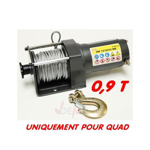 Treuil 0,9 T pour quad - 12 V
