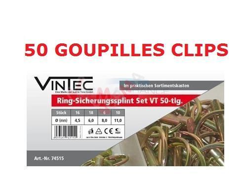 Assortiment 50 goupilles clips en coffret - VINTEC