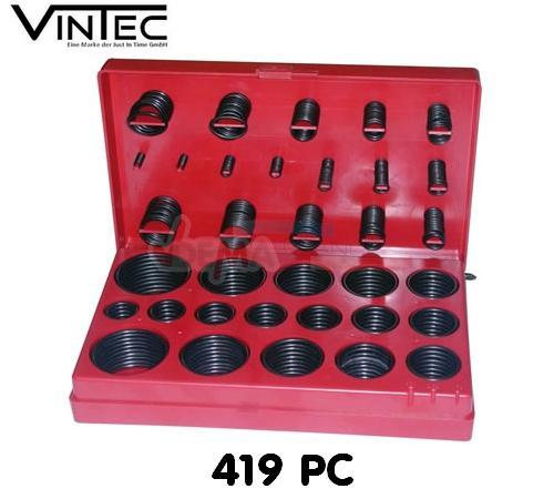 Assortiment joints toriques - 419 pièces en coffret  - VINTEC
