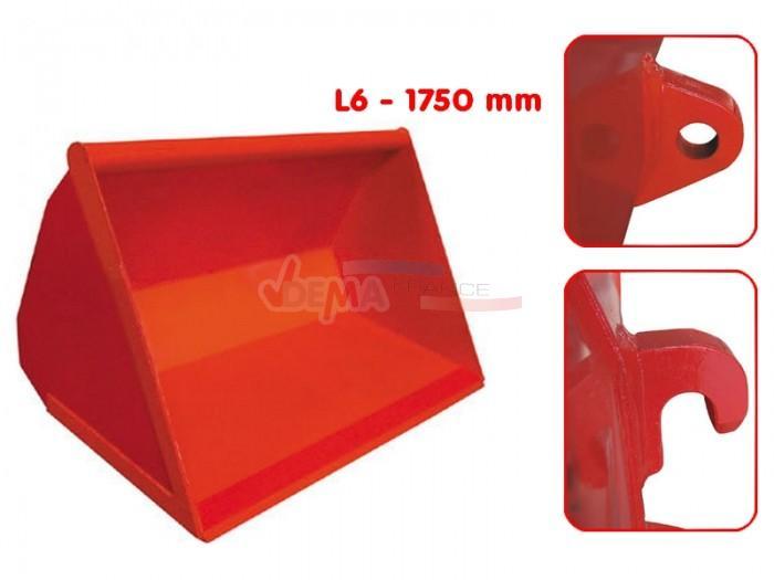 Godet frontal agricole  L6-1750 mm - 0,65 m3