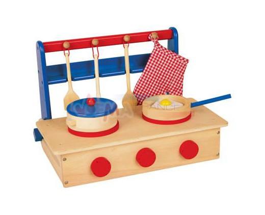 Cuisinière / table de cuisson en bois