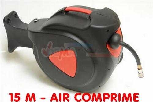 Enrouleur tuyau air comprim 15 m amovible pvc r sistant - Enrouleur air comprime ...