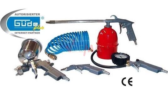 Outils pneumatiques en métal pour compresseur set de 5 pièces