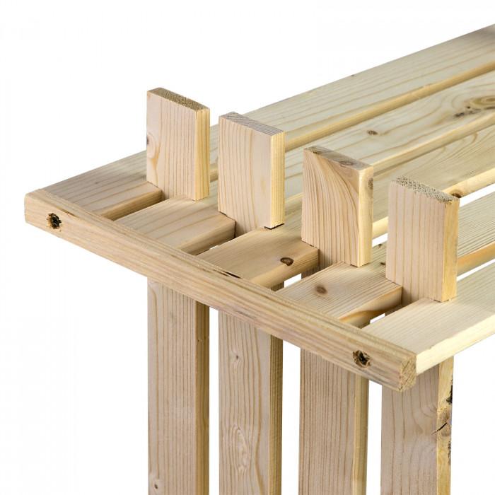 Etagère en bois - 6 rangements - pin massif