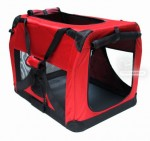 Niche de transport chien - chat - 700 x 520 x 520 mm rouge