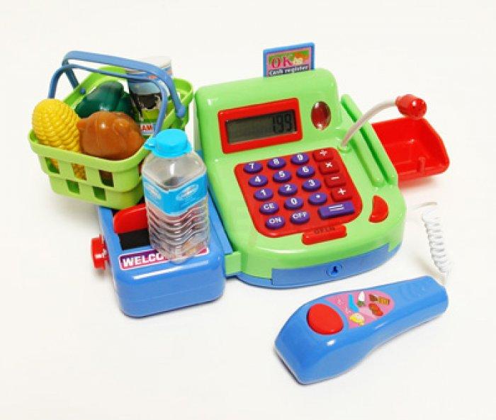 Etagère marchande et caisse enregistreuse + accessoires